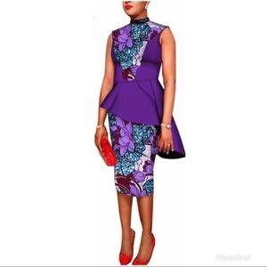 2Pc African Skirt Set Sz 12